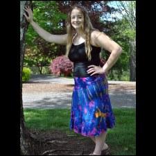 Tie Dye Skirt Purple