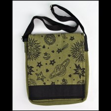 Star Moon Large Messenger Bag