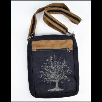 Tree of Life Shoulder Bag Blue