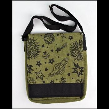 Star Moon Large Messenger Bag