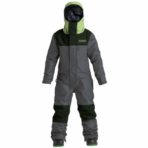 Airblaster Boys Freedom Suit-Black Hot Green-S