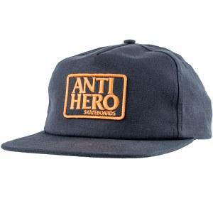 Anti Hero Reserve Patch Snapback Hat-Charcoal/Orange-OS