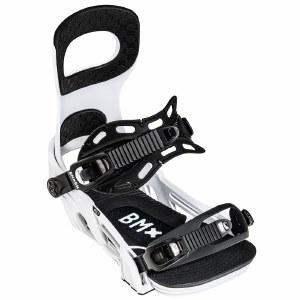 Bent Metal Mens Bolt Snowboard Binding-White-L