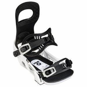 Bent Metal Mens Joint Snowboard Binding-White-L