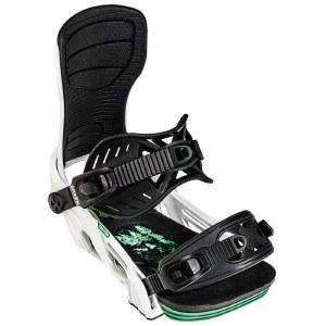 Bent Metal Mens Cor-pro Snowboard Binding-White-L