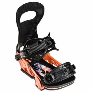 Bent Metal Mens Solution Snowboard Binding-Orange-M