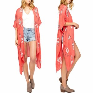 Gentle Fawn Lumiere Kimono Womens-Sketch Rose Of Sharon-OS