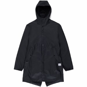 Herschel Mens Rainwear Fish Tail Jacket-Black-S