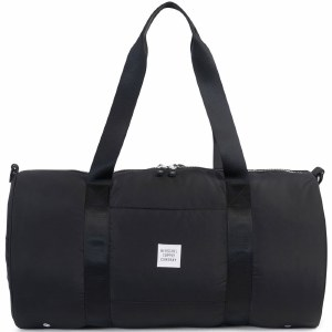 Herschel Athletic Sutton 23L Duffle Bag Womens Lightweight Nylon Fabric-Rip Stop/Black-OS