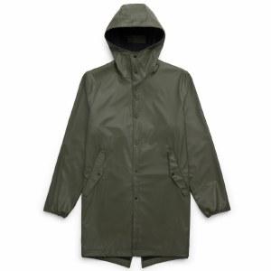 Herschel Mens Rainwear Fishtail Jacket-Dark Olive-S