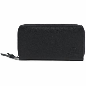 Herschel Thomas Wallet-Leather Black Pebble-OS