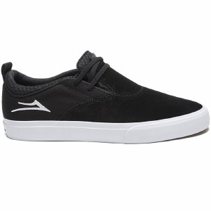 Lakai Riley Hawk 2 Shoe-Black Suede-8.5