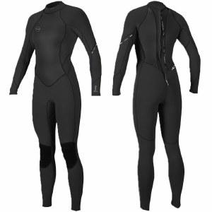 Oneill Womens Bahia 3/2 BZ Full Suit-Black/Black/Black-10.0