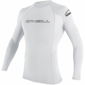 O'Neill Basic Skins Long Sleeve Rashguard-White-M