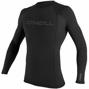 O'Neill Thermo-X Long Sleeve Crew Top-Black/Black/Black-M
