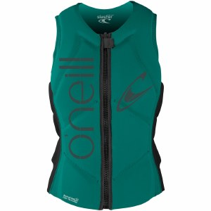 O'Neill Slasher Comp Life Vest Womens-Capri Bronze/Black-6