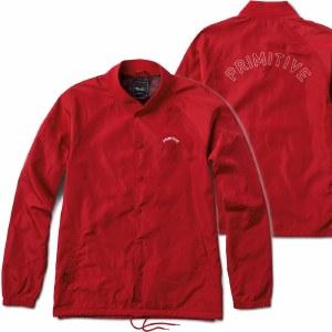 Primitive Varsity Coach Jacket-Blood Red-L