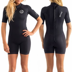 Rip Curl Dawn Patrol Short Sleeve Spring Suit-Black-4