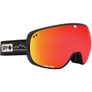 Spy Bravo A-Fit Goggle-Essential Black/Happy Grey Green w/Red Spectra+Happy Yellow w/Lucid Green