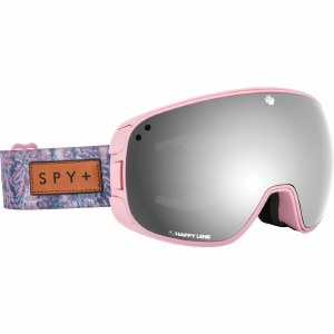 Spy Bravo Goggle Womens-Native Nature Pink/Happy Grey Green w/Silver Spectra+Happy Yellow w/Lucid Green