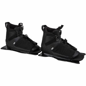 Radar Prime Water Ski Boot-Front Feather Frame-Blackout-Small