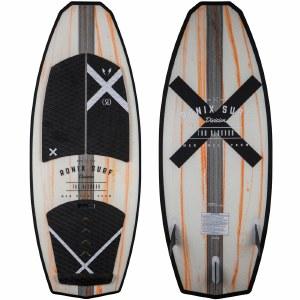 Ronix Hex Shell The Blender Wakesurfer-Natural/Paint Drip Orange-4'7