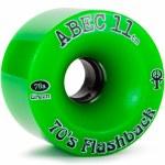 Abec 11 Flashbacks Skateboard Wheel-Green-70mm/81A