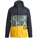 Airblaster Mens Yeti Stretch Jacket-OG Dino Gold-L