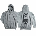 Airblaster Mens Team Zip Hoodie-Gunmetal Heather-S