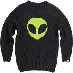Airblaster Mens Trinity Sweater Crew Sweatshirt-Alien-S