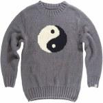 Airblaster Mens Trinity Sweater Crew Sweatshirt-Yin Yang-S