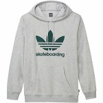 Adidas Clima 3.0 Pullover Hoody-Palm/Collegiate Green-L