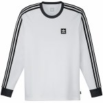 Adidas Long Sleeve Club Jersey-White/Black-M