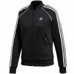 Adidas SST TT Long Sleeve Zip Top Womens-Black-S