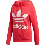 Adidas Trefoil Pullover Hoody Womens-Core Pink-S