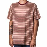 Altamont Cromwell Short Sleeve T Shirt-Berry Stripe-L