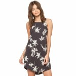 Amuse Love Always Dress Womens-Washed Charcoal-S