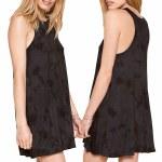 Amuse Indio Dress Womens-Black-S