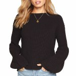Amuse Braxton Sweater Womens-Black Sands-M