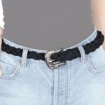Amuse Lagoon Eyes Belt Womens-Black-M/L
