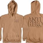Anti Hero Drop Hero Pullover Hoody-Saddle w/Black Prints-S