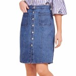 BB Dakota On Cloud Nine Skirt Womens-Dark Blue-0
