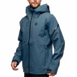 Black Diamond Mens Mission Shell Jacket-Azurite-M