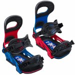 Bent Metal Mens Transfer Snowboard Binding-Blue/Red-S