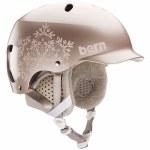 Bern Womens Lenox Helmet-Satin Rose Gold Snowflake-S