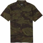 Billabong Mens Surf Trek Short Sleeve Button-Up-Camo-S