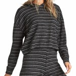 Billabong Womens Brunch Date Hoodie-Black Multi-XS