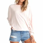 Billabong Womens Carried Away Crew Sweatshirt-Blush-S