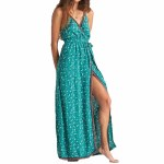 Billabong Womens Soft Seas Dress-Emerald Bay-XS