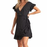 Billabong Womens Wrap and Roll Dress-Black-S